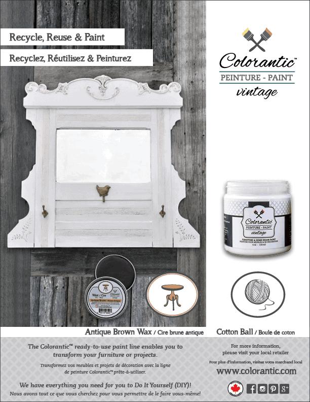 PUB Peinture à la craie Boule de coton - Chalk-Based Paint Cotton ball | Peinture à la craie Colorantic | Chalk-Based Paint Colorantic