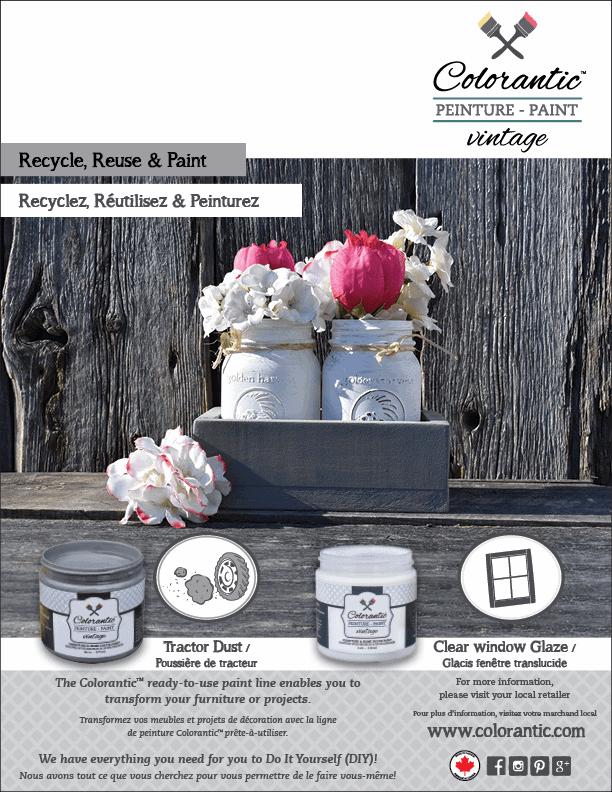 PUB Peinture à la craie poussière de tracteur et glacis - Chalk-Based Paint Tractor dust and glaze | Peinture à la craie Colorantic | Chalk-Based Paint Colorantic