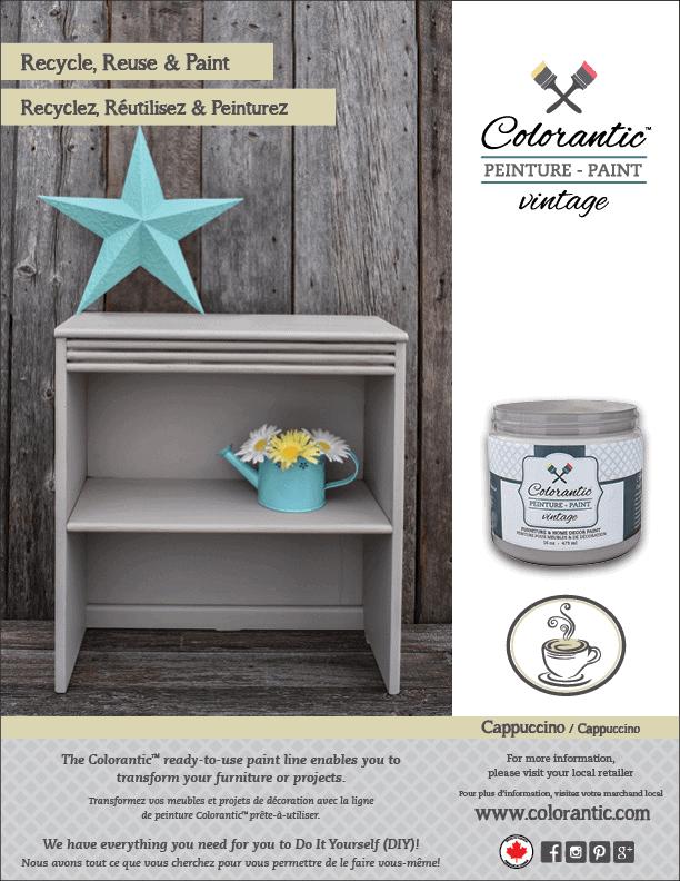 PUB Peinture à la craie Cappuccino - Chalk-Based Paint Cappuccino | Peinture à la craie Colorantic | Chalk-Based Paint Colorantic