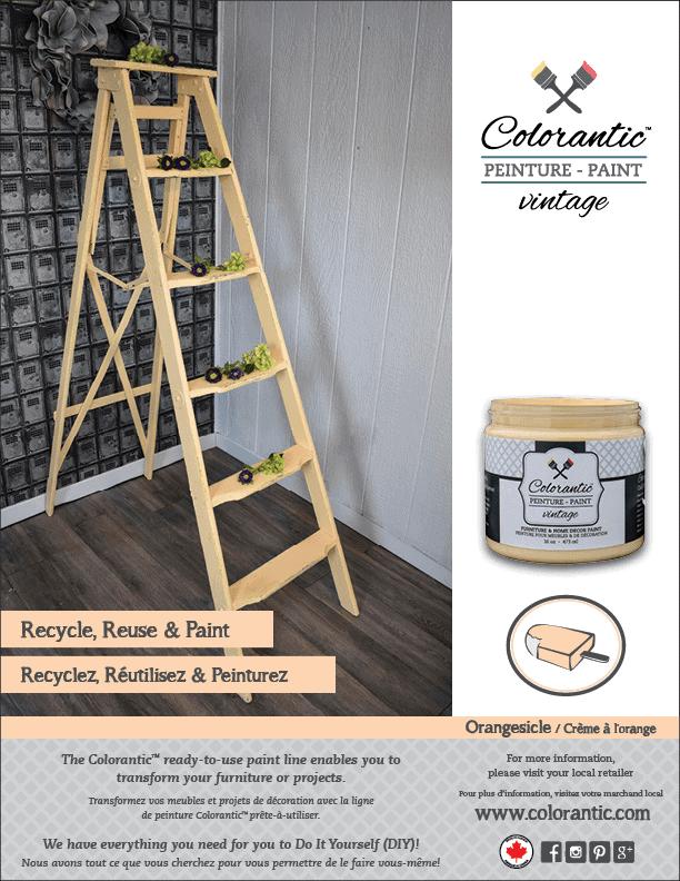 PUB Peinture à la craie Crème à l'orange - Chalk-Based Paint Orangesicle | Peinture à la craie Colorantic | Chalk-Based Paint Colorantic