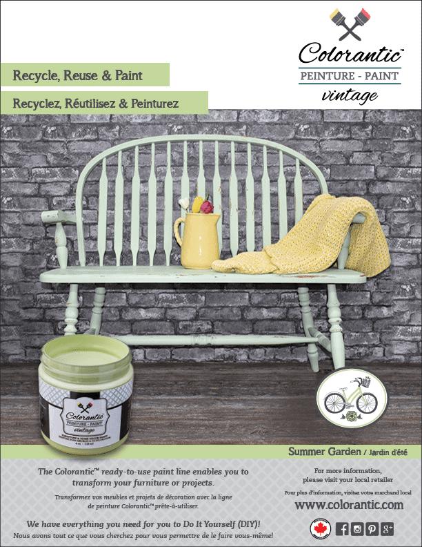 PUB Peinture à la craie Jardin d'été - Chalk-Based Paint Summer Garden | Peinture à la craie Colorantic | Chalk-Based Paint Colorantic