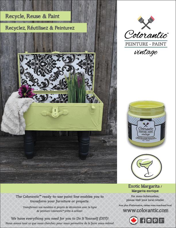 PUB Peinture à la craie Magarita exotique - Chalk-Based Paint Exotic Margarita | Peinture à la craie Colorantic | Chalk-Based Paint Colorantic