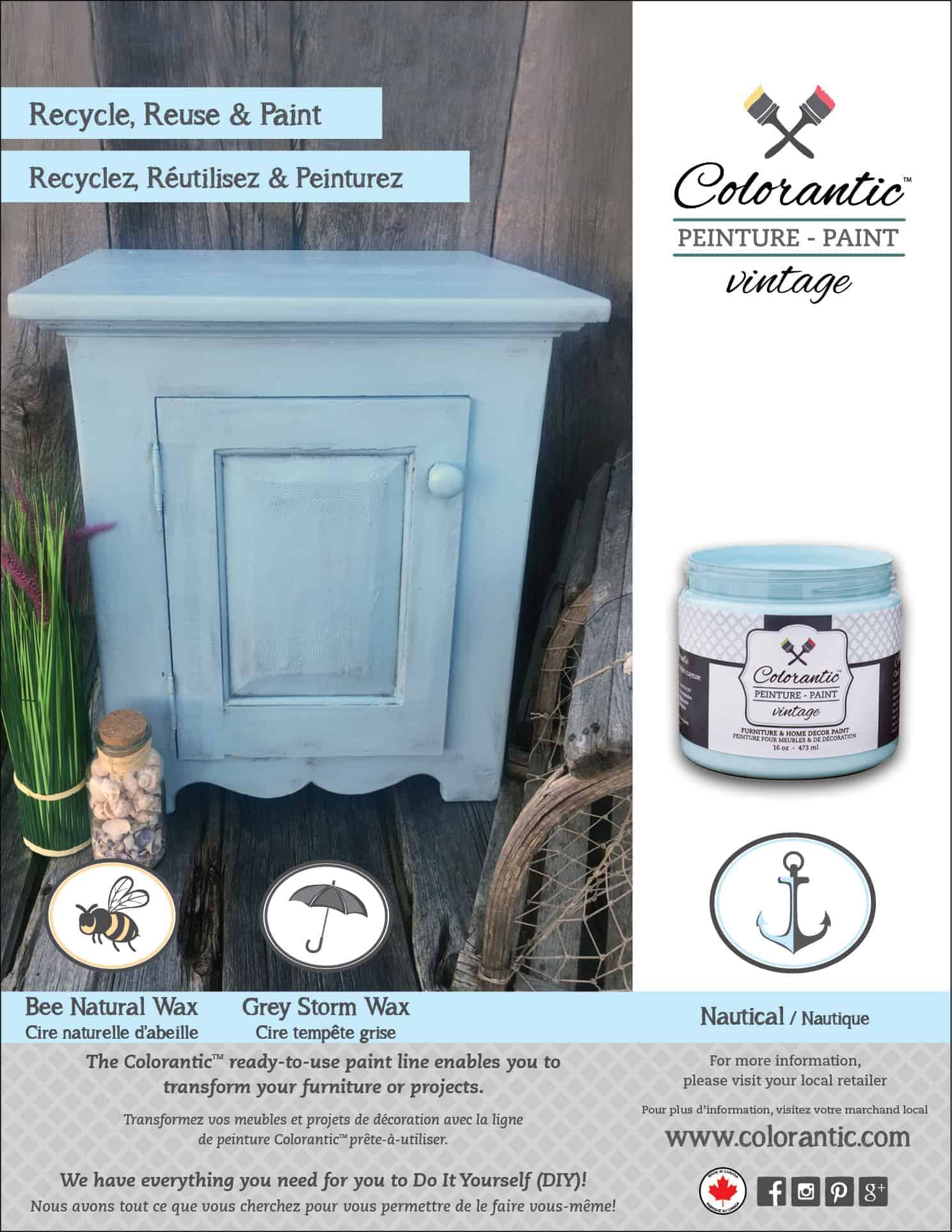 PUB Peinture à la craie nautique - Chalk-Based Paint nautical | Peinture à la craie Colorantic | Chalk-Based Paint Colorantic