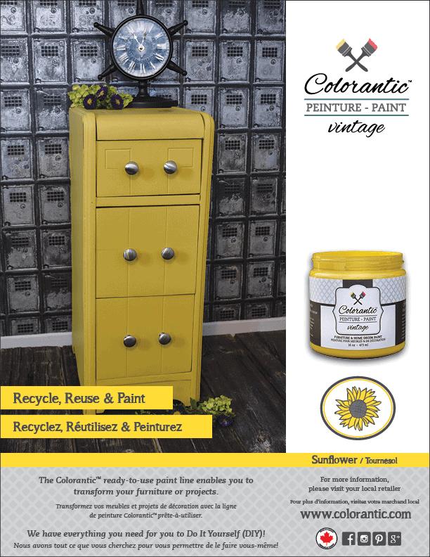 PUB Peinture à la craie Tournesol - Chalk-Based Paint Sunflower | Peinture à la craie Colorantic | Chalk-Based Paint Colorantic