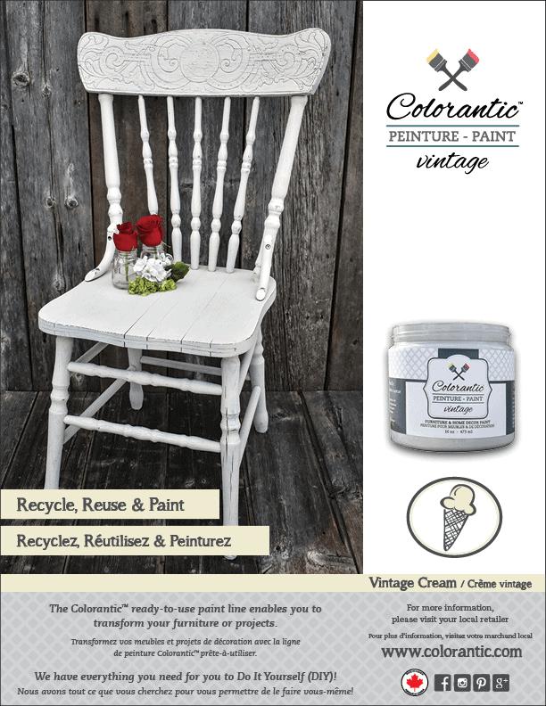 PUB Peinture à la craie Crème Vintage - Chalk-Based Paint Vintage Cream | Peinture à la craie Colorantic | Chalk-Based Paint Colorantic