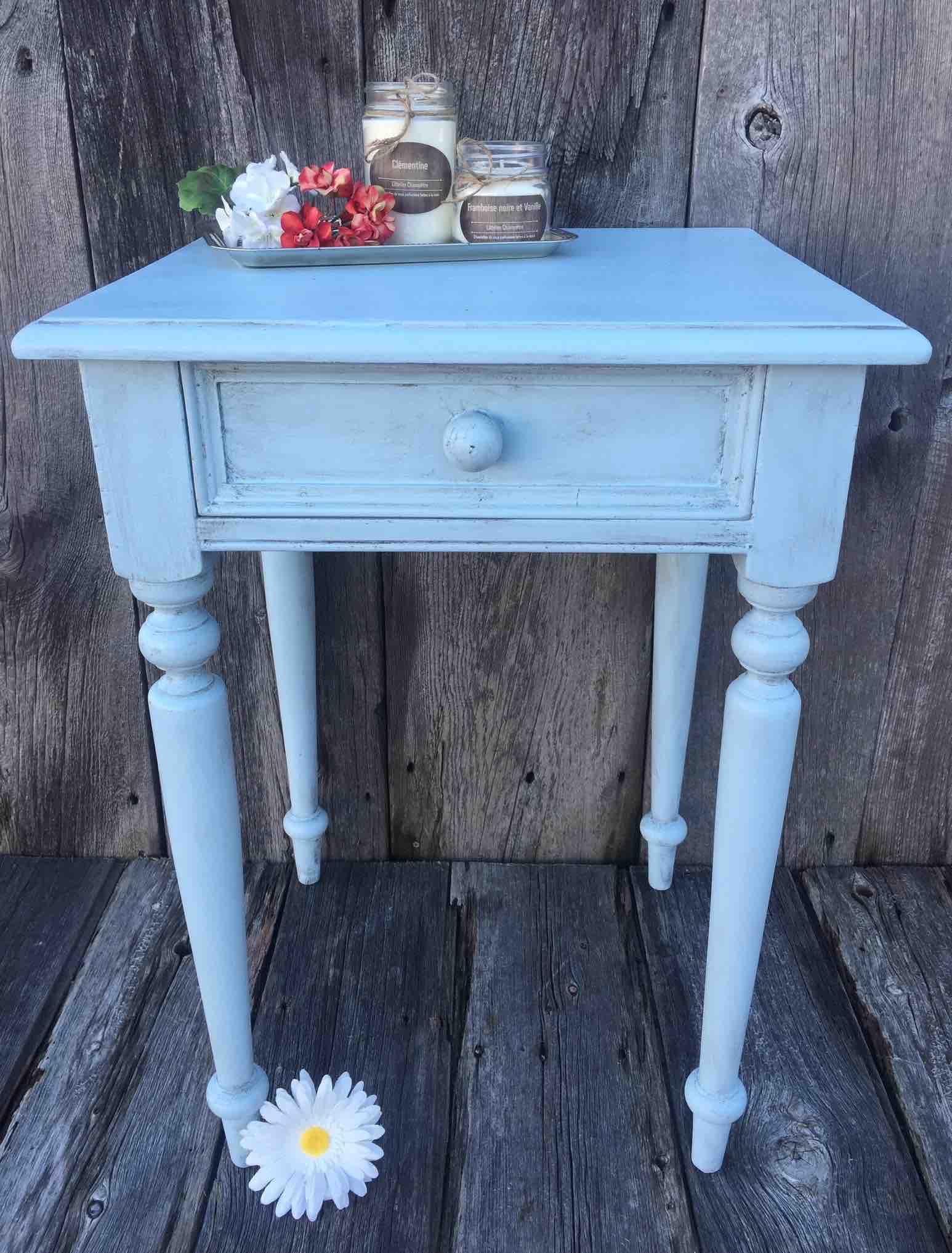 Rénovation de meuble en bois - Renovation of wooden furniture | Peinture à la craie Colorantic | Chalk-Based Paint Colorantic