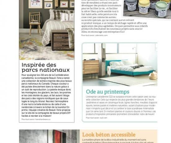 Colorantic dans Décor Mag Édition Juin 2017 | Peinture à la craie Colorantic | Chalk-Based Paint Colorantic