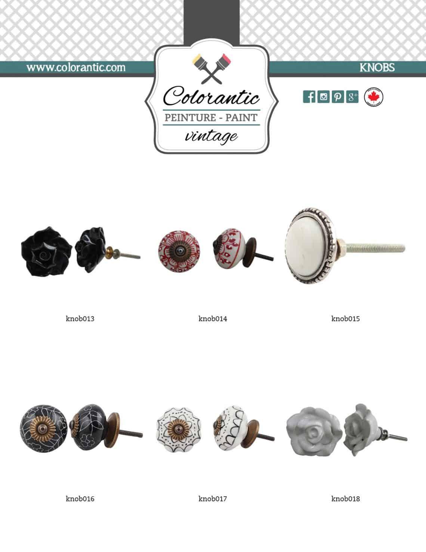 Poignées et boutons pour meubles - Furniture handles and knobs | Peinture à la craie Colorantic | Chalk-Based Paint Colorantic