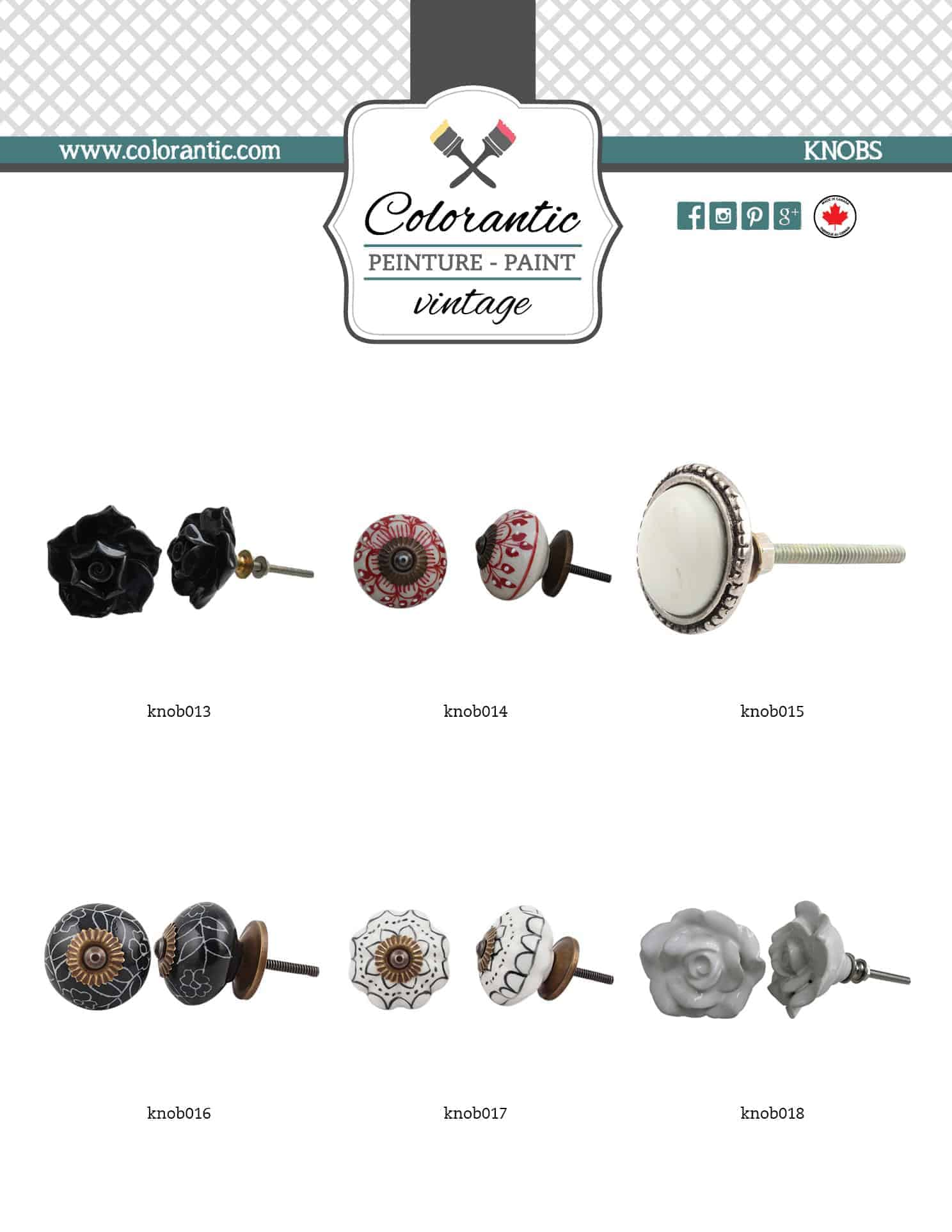 Collection of handles and knobs available on request!