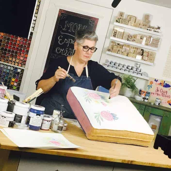 Formation - Peindre sur du tissu avec la peinture à la craie Colorantic