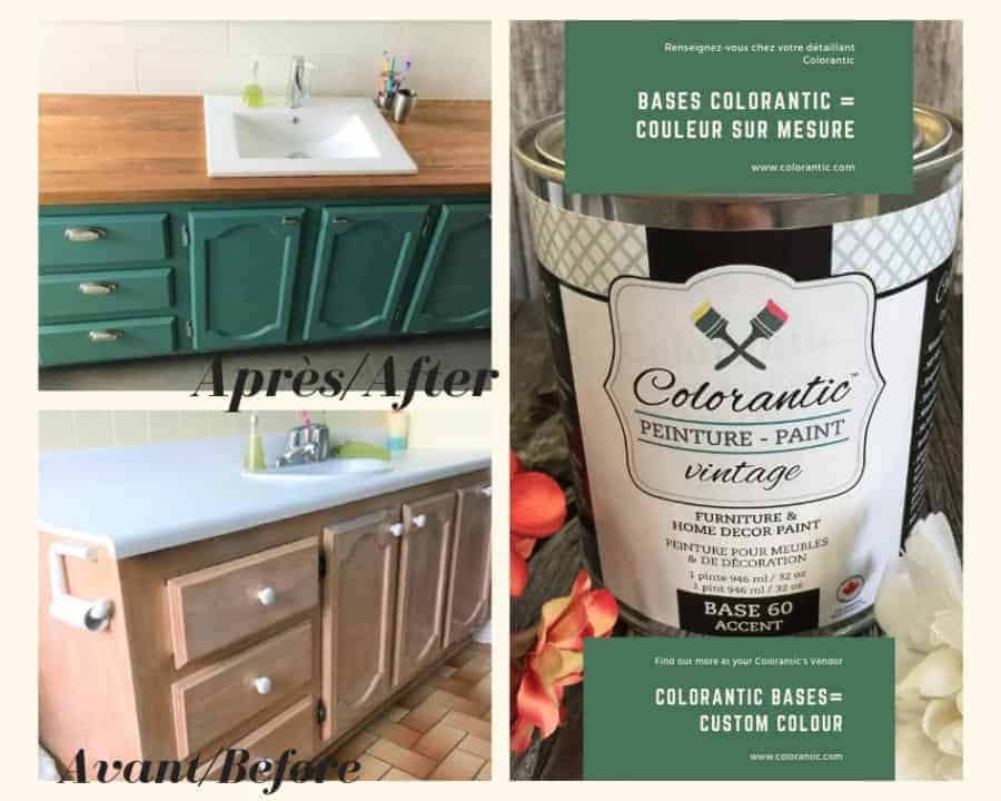 Paint your Bathroom Vanity with Colorantic – Chalk Based Paint!