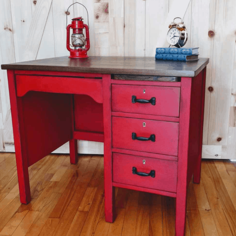 Commode rouge -2
