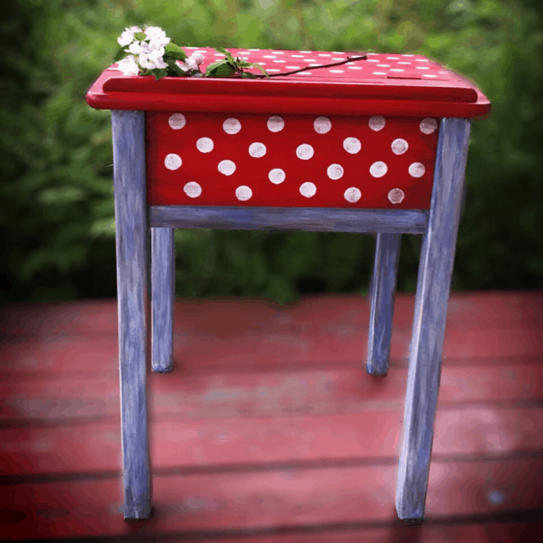 Commode rouge -3