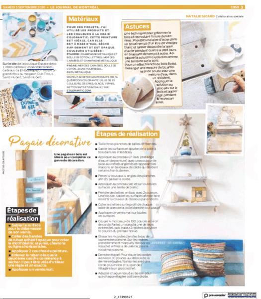 Peinturez des pagaies en bois grâce au Journal de Montréal